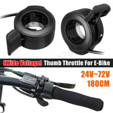 Speed Control Thumb Throttle on Left / Right Handle 3 Wires For E-Bike Scooter