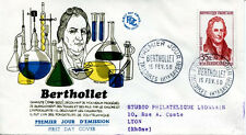 FRANCE FDC - 240 1149 2 GRANDS SAVANTS BERTHOLLET 15 2 1958