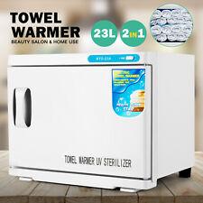 23L Towel Warmer UV Sterilizer Heat Cabinet Salon Spa Beauty Skin Care Equipment