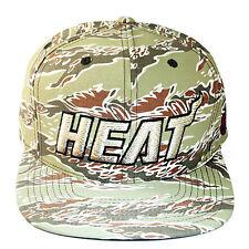 Mitchell & Ness NBA Miami Heats Snapback Hat Desert Camo Gradiant Pattern Cap