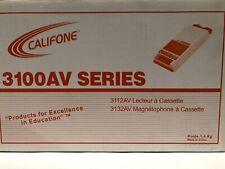 Califone 3100AV Cassette Player Recorder -