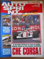 AUTOSPRINT n°25 1992  Didier Auriol Gerard Berger Guida 24 Ore Le Mans  [P63]