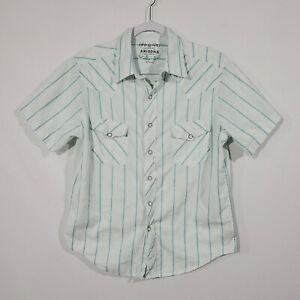 Arizona Jean Company Button-Down Short Sleeve Western Shirt Size M