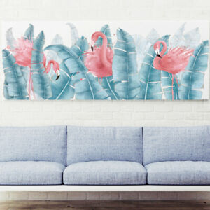 Tropical Leaves Flamingos Nice Removable Wall Stickers Living Room Nursery Decal