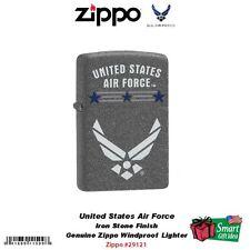 Zippo US Air Force Pocket Lighter, Iron Stone Finish, USAF #29121