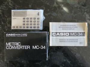 Vintage Casio Metric Converter MC-34 Electronic Calculator in Box