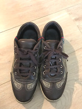 Authentic GUCCI tennis shoes. Brown and Tan. Women shoes