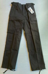Tru-Spec Ripstop BDU Pant YOUTH Large Regular New With Tags Black VPO 016762-3