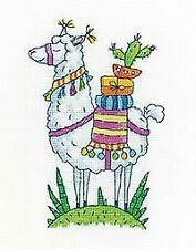Heritage Crafts Counted Cross Stitch Kit - Llama - by Karen Carter