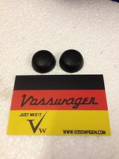 VW GOLF GTI MK2.5DR JETTA FRONT REAR BLACK SEATBELT BOLT COVERS.GENUINE.PAIR