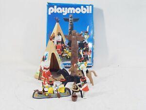 PLAYMOBIL SET 3483 INDIANS CAMP WITH BOX