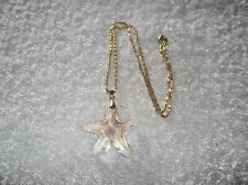 Ex-Display MULTI-COLOURED Clear Crystal Glass Faceted STARFISH NECKLACE