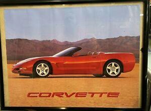 "1998 Corvette Double Sided Poster 17""x 22"" Convertible Dealership Advertisement"