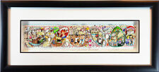Just What the Doctor Prescribed Charles Fazzino FRAMED 3D Medical Care Nurse Dr.