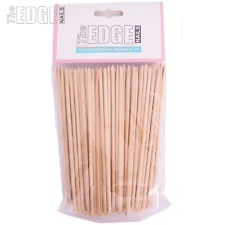 The Edge Nails 100 x Birchwood Professional Manicure Sticks Dual Ended