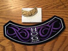 2004 HARLEY-DAVIDSON HOG OWNERS GROUP EMBROIDERED ROCKER PATCH & MATCHING PIN