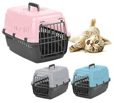 Large Cat Transporter Carrier Puppy Portable Pet Cage Box Travel Crate Vet Safe