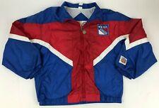 Vtg 90s NHL Professional Sports Club NY Rangers YOUTH Windbreaker JACKET Zip L