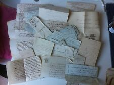 Lot papiers anciens parchemin timbre royal Azille Aude Carcassonne Toulouse 19èm