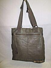 GAP Olive Green Leather Large Tote Shoulder Bag MINT