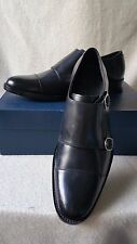 NIB Cole Haan 9 M Madison Double Monk Strap Oxford Loafer Black Leather Shoe