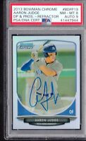 PSA 8 AUTO 9 AARON JUDGE 2013 Bowman Chrome Draft Picks REFRACTOR #19 RC NR-MINT