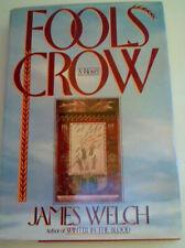 JAMES WELCH  1st hc ed SIGNED 1986    FOOL'S CROW   blackfeet native american