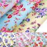 "Roses Fabric 100% Cotton Floral Material Vintage Craft Quilting 45"" Alexandra"