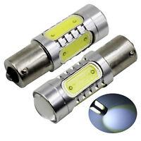2X Xenon White 1156 COB 7.5W RV/Backup/Reverse LED Light bulb Lamp 1141 1003 631