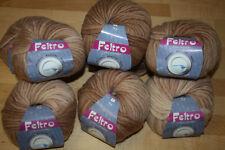 """!! 9 x50gg !! Wolle von LANA GROSSA """"Feltro"""" !! 100% Schurwolle !! Filzwolle"""