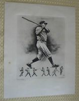 Circa 1960's Babe Ruth 'The Immortal Babe' Idol Of Millions Linen Print-Palenska