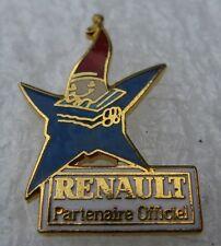 Pin's  RENAULT Partenaire Olympique Mascotte 92 étoile
