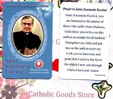 Saint St. Josemaria Escriva (Style 2) with Prayer  - Relic Paperstock Holy Card