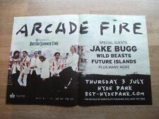 ARCADE FIRE - UK TOUR DATES - HYDE PARK 2014 - poster press advert 12 X 19 INS