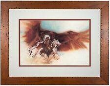 BEV DOOLITTLE 'WSS' Rushing War Eagle Matted & Framed Fine Art Print