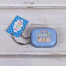 FOR THE TOOTH FAIRY Tin small teeth container Blue Great fun child gift New