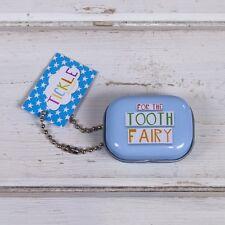 PER THE TOOTH FAIRY Latta piccolo denti contenitore Blu Grande divertimento