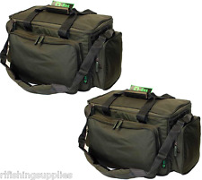 2 x NGT Carp Fishing Insulated Green Padded Carryall Holdall Tackle Bags 709