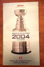 MONTREAL CANADIENS 2004 NHL PLAYOFFS SEASON TICKETS BOOKLET & TICKET STUBS