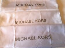 🌺🌹 3 New Michael Kors MK Drawstring Dust Bag  15'' X 15'' White