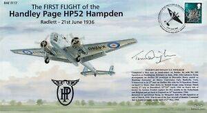 1st Flight Handley Page Signed by S T Wingham 76 Sqn shot down in Netherlands