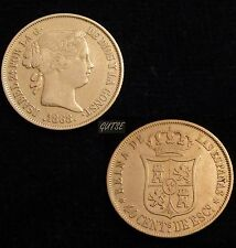 *GUTSE*522-ISABEL II, 40 CÉNTIMOS DE ESCUDO 1868*18-68, MADRID, MBC++
