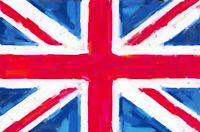 Pack of 6 NEW Union Jack Postcards, Distressed Vintage Painted Style 23O