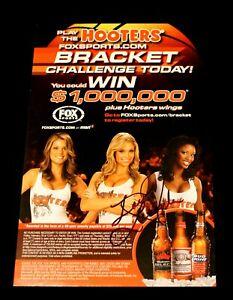 LAST ONE Miss Hooters LeAngela Davis FoxSports Basketball Signed Mini Poster