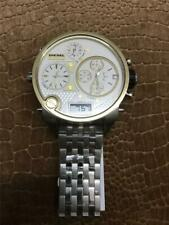 Men's DlESEL DZ7260 Mr. Daddy White Gold Dail 4 Time Zone Chronograph New Watch