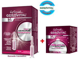 OFFER Gerovital H3 Evolution Hyaluronic Acid ampoules + Anti-ageing Night Cream