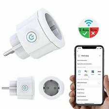 Prise Intelligente Connectée WiFi, Mini 16A Prise Wi-FI  Alexa Echo Google Home