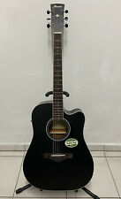 Ibanez AW84CE-WK Westerngitarre Gitarre Tonabnehmer + Stimmgerät schwarz Guitar