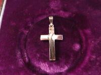 Toller Kleiner 925 Silber Anhänger Kreuz Glaube Super Design Sterling Modern