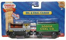 VICARSTOWN OIL & SODOR COAL CARGO CAR Thomas Tank WOODEN Railway NEW IN BOX
